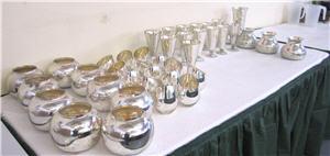 Mercury Glass Vases Sony Grammy Party