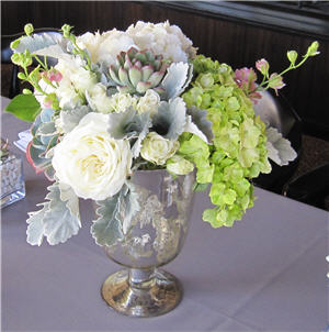 Wedding Mercury Vase Closeup