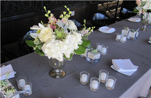 Wedding Mercury Vase Table Setting