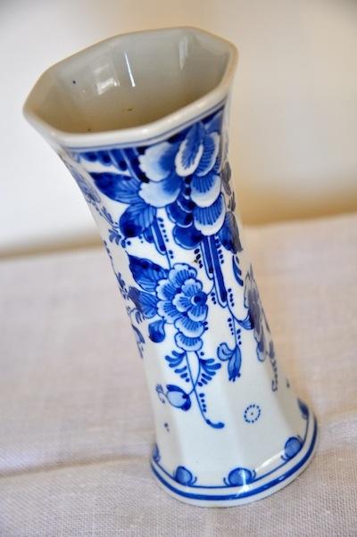 delft flower vase