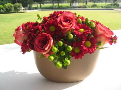 Fall pavé flowers