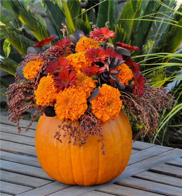 Pumpkin Vase Black And White Halloween Mercury Glass Paint