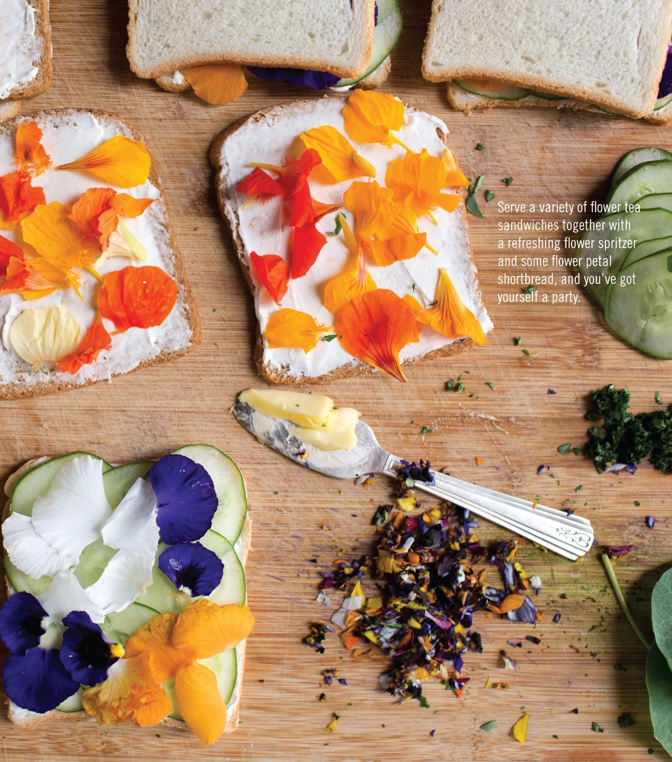 Flower Tea Sandwiches