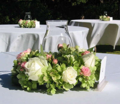 White Hydrangea Wedding Centerpieces on Hydrangea Wedding Bouquet    White Rose Bouquet Flower