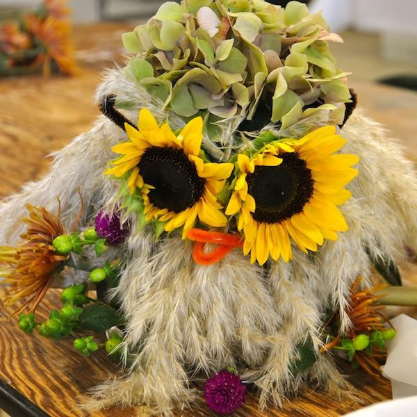 Owls in Flowers