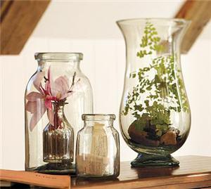 pottery barn glass vases