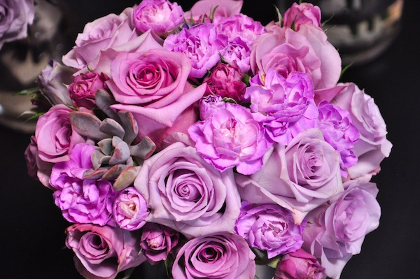 Radiant Purple Bridal Bouquet by flowerduet.com