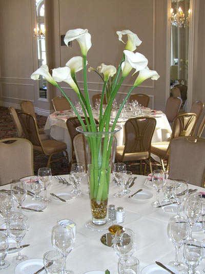 Wedding Centerpiece Ideas Calla Lilies Epper S Veil Camo Edge Tier W White